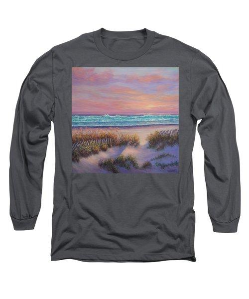 Ocean Beach Path Sunset Sand Dunes Long Sleeve T-Shirt
