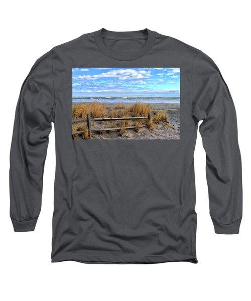 Ocean City Beach Fence Long Sleeve T-Shirt