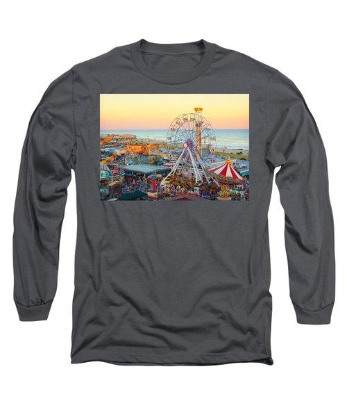 Ocean City New Jersey Boardwalk And Music Pier Long Sleeve T-Shirt