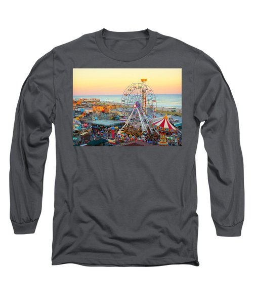 Ocean City New Jersey Boardwalk Long Sleeve T-Shirt