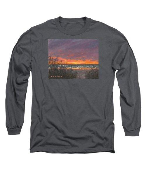 Ocean Daybreak # 2 Long Sleeve T-Shirt by Kathleen McDermott