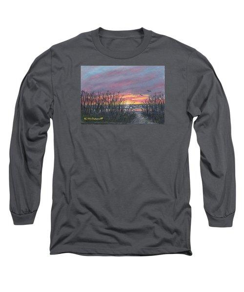 Ocean Daybreak Long Sleeve T-Shirt by Kathleen McDermott