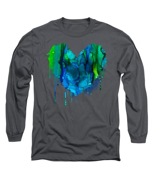 Long Sleeve T-Shirt featuring the painting Ocean Depths by Nikki Marie Smith