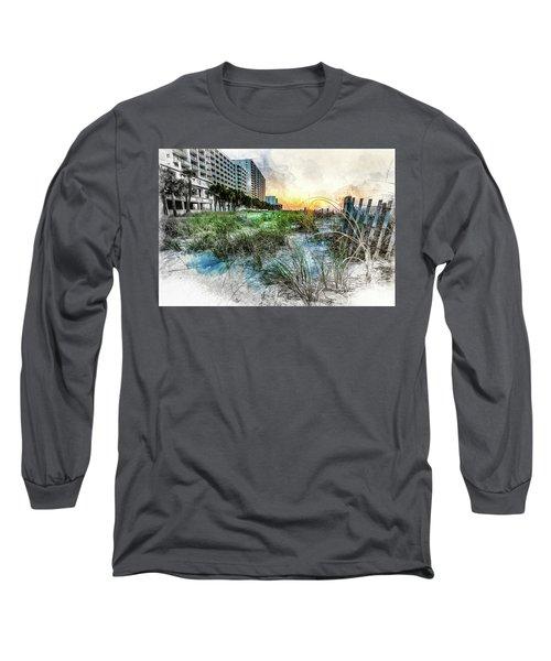 Ocean Drive Easter Sunrise Long Sleeve T-Shirt