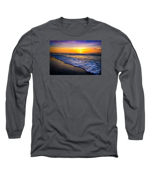 Ocean Drive Sunrise Long Sleeve T-Shirt by David Smith