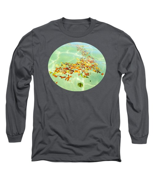 Long Sleeve T-Shirt featuring the photograph Ocean Flowers Oval by Linda Hollis