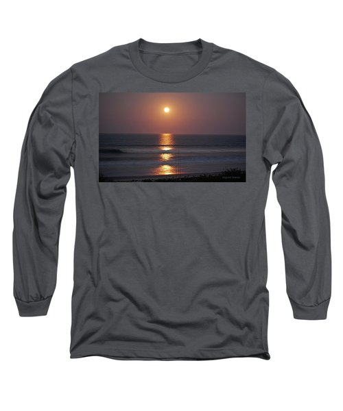Ocean Moon In Pastels Long Sleeve T-Shirt by DigiArt Diaries by Vicky B Fuller
