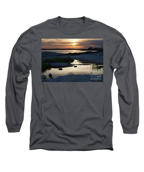 Ocean Point Sunset In East Boothbay Maine  -23091-23093 Long Sleeve T-Shirt
