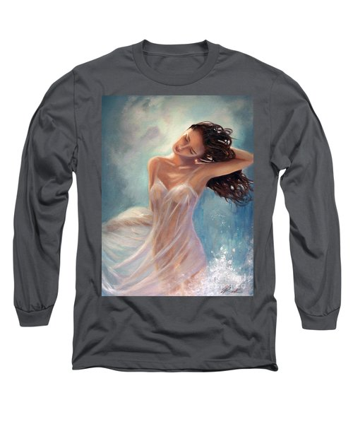 Long Sleeve T-Shirt featuring the painting Ocean Serenade by Michael Rock