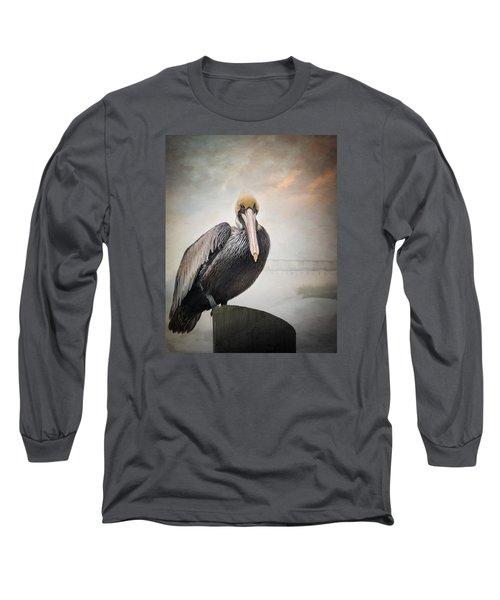 Ocean Springs Pelican Long Sleeve T-Shirt