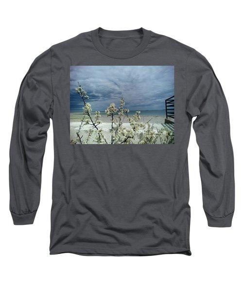 Ocean Spring Long Sleeve T-Shirt by Robert Nickologianis