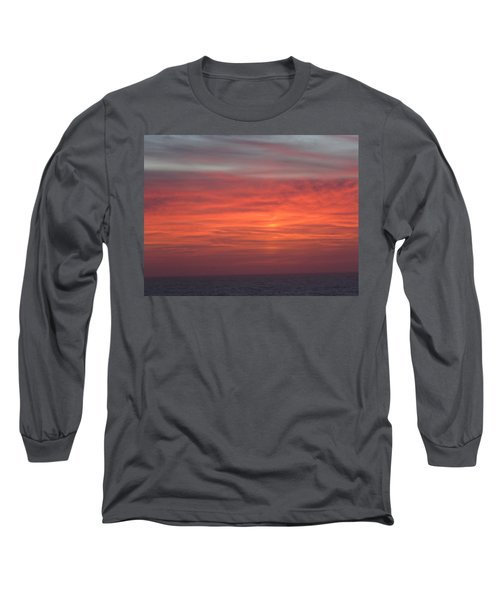 Ocean Sunrise Long Sleeve T-Shirt by Kathy Long