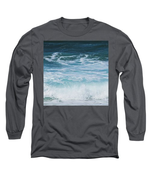 Ocean Waves From The Depths Of The Stars Long Sleeve T-Shirt by Sharon Mau