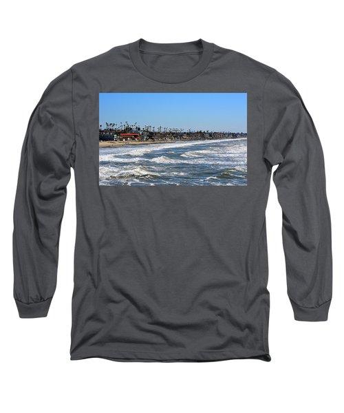Long Sleeve T-Shirt featuring the photograph Oceanside by AJ Schibig