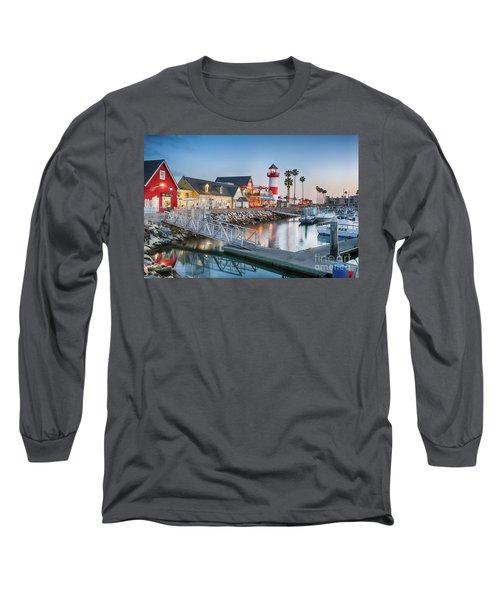 Oceanside Harbor Village At Dusk Long Sleeve T-Shirt