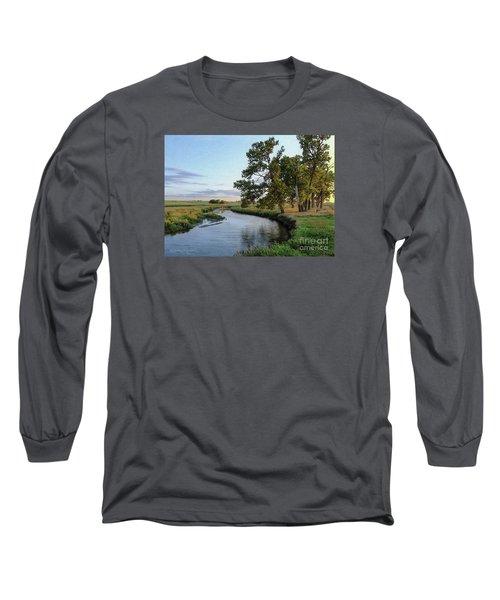 Ocheyedan Evening Long Sleeve T-Shirt by Bruce Morrison