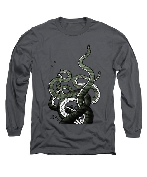 Long Sleeve T-Shirt featuring the drawing Octopus Tentacles by Nicklas Gustafsson