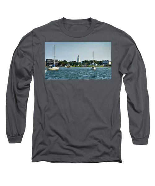 Ocracoke Island Lighthouse From Silver Lake Long Sleeve T-Shirt