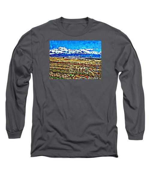 Long Sleeve T-Shirt featuring the photograph October Clouds Over Spanish Peaks by Anastasia Savage Ealy