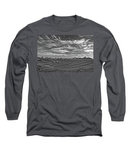 October Patterns Bw Long Sleeve T-Shirt
