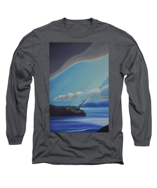 Ode To The North II - Left Panel Long Sleeve T-Shirt
