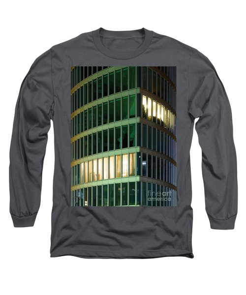 Office Building At Night Long Sleeve T-Shirt