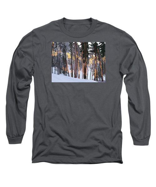 Office View Winter Alpenglow Long Sleeve T-Shirt