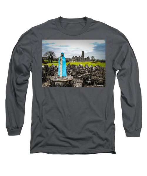 Official Greeter At Ireland's Quin Abbey National Monument Long Sleeve T-Shirt