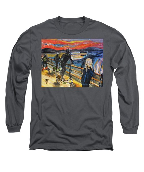 Oh No,elliptigo Long Sleeve T-Shirt