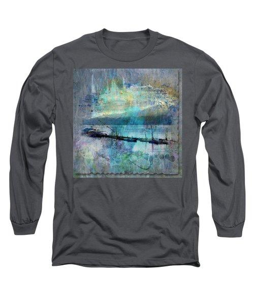 Ohio River Splatter Long Sleeve T-Shirt by Diana Boyd