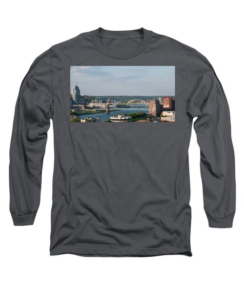 Ohio River's Suspension Bridge Long Sleeve T-Shirt