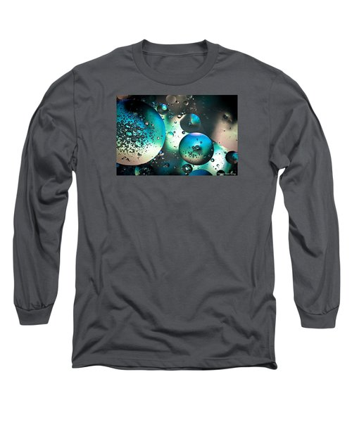 Oil And Water 1 Long Sleeve T-Shirt by Michaela Preston