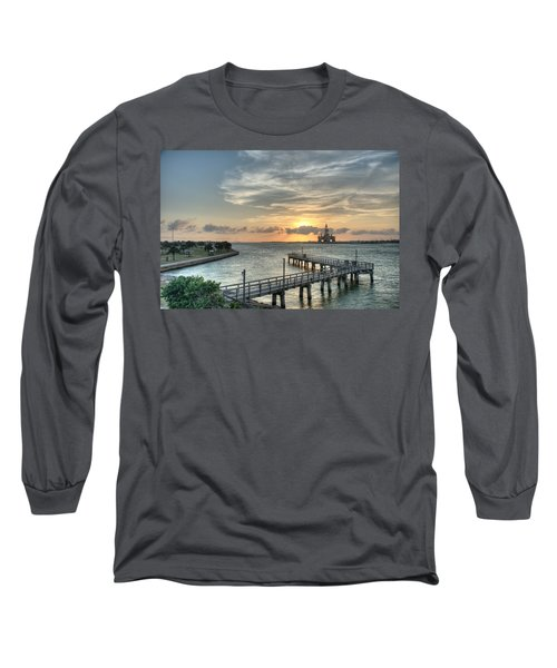 Oil Rig In Gulf Long Sleeve T-Shirt