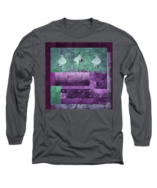 Long Sleeve T-Shirt featuring the digital art Oiselot 01 - J097179222-bl02a by Variance Collections