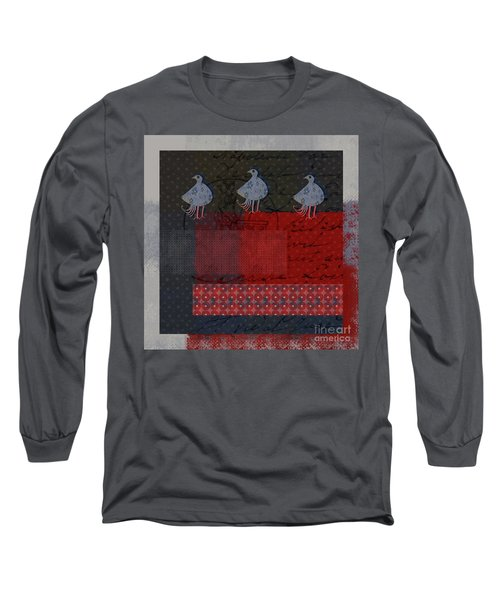 Long Sleeve T-Shirt featuring the digital art Oiselot - S23 by Variance Collections