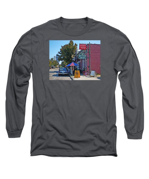 Ok Bicycle Yellow Sign Long Sleeve T-Shirt by Michael Thomas