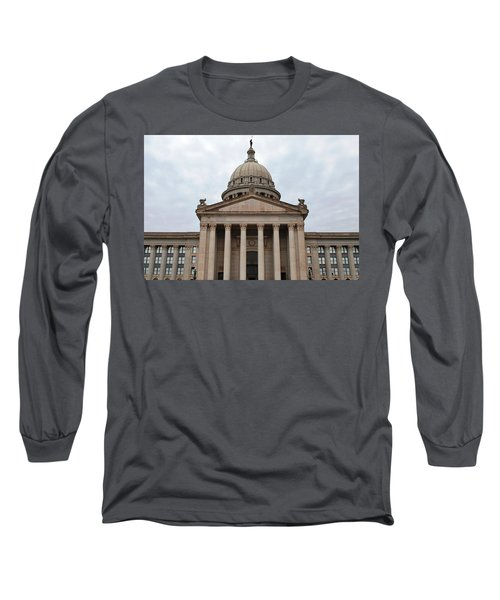Oklahoma State Capitol - Front View Long Sleeve T-Shirt