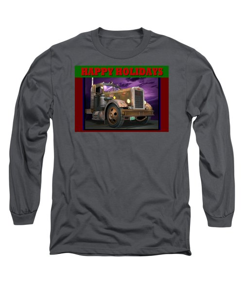 Ol' Pete Happy Holidays Long Sleeve T-Shirt by Stuart Swartz