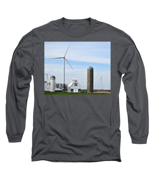 Old And New Farm Site Long Sleeve T-Shirt by Kathy M Krause