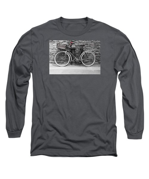 Old Bicycle Long Sleeve T-Shirt by Helen Northcott