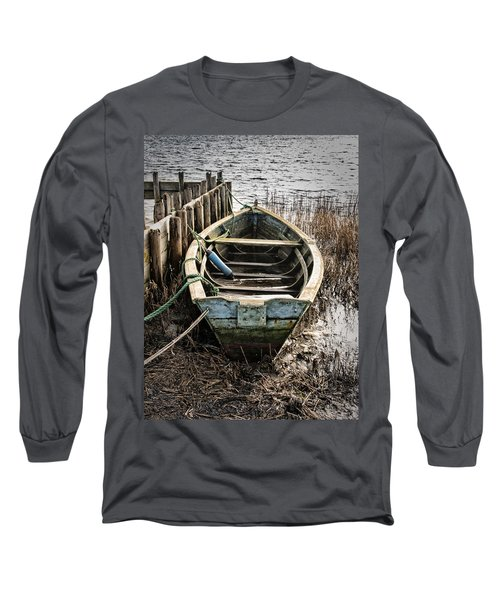 Old Boat Long Sleeve T-Shirt by Mike Santis