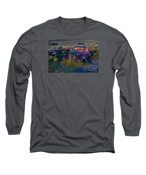 Old Bodie Car By Moonlight Long Sleeve T-Shirt