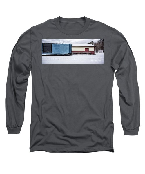 Old Box Car At A Freight Station Long Sleeve T-Shirt