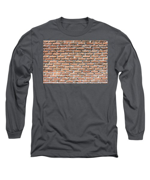 Long Sleeve T-Shirt featuring the photograph Old Brick Wall by Jingjits Photography