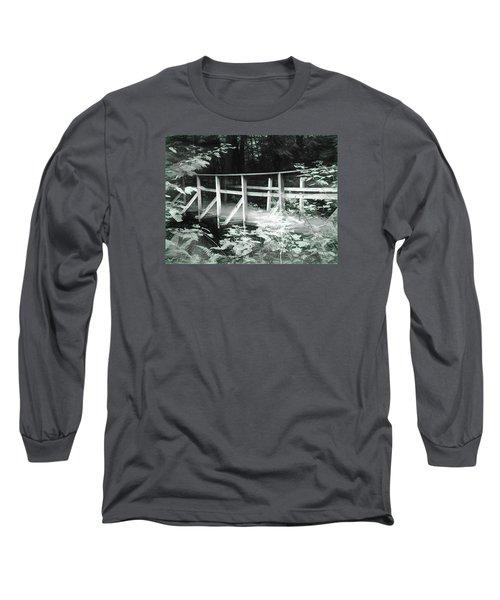 Old Bridge In The Woods Long Sleeve T-Shirt by Rena Trepanier