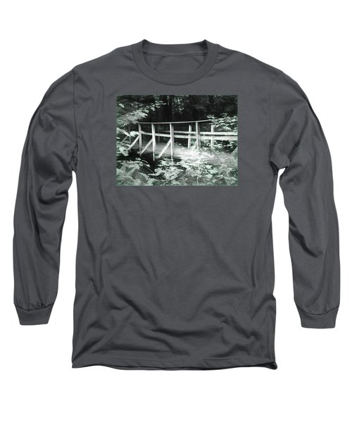 Old Bridge In The Woods Long Sleeve T-Shirt