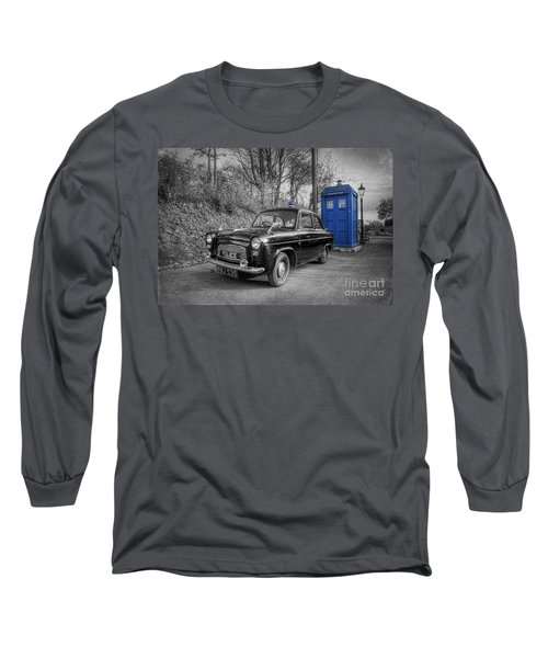 Old British Police Car And Tardis Long Sleeve T-Shirt