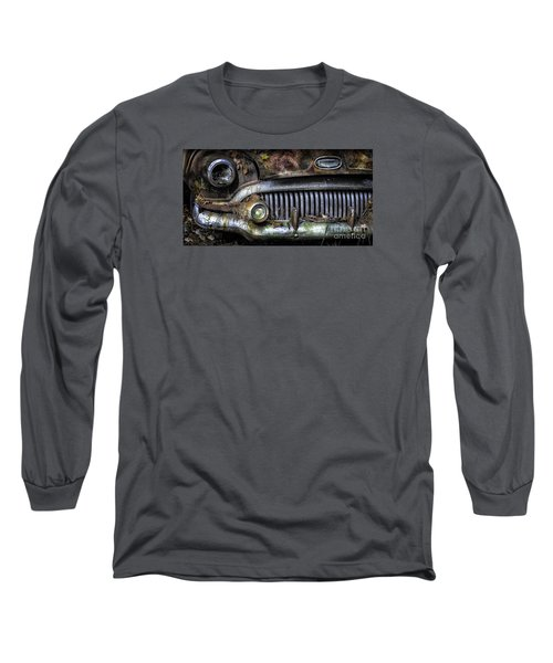 Old Buick Front End Long Sleeve T-Shirt by Walt Foegelle