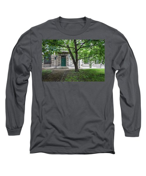 Old Building Exterior Long Sleeve T-Shirt by Teemu Tretjakov