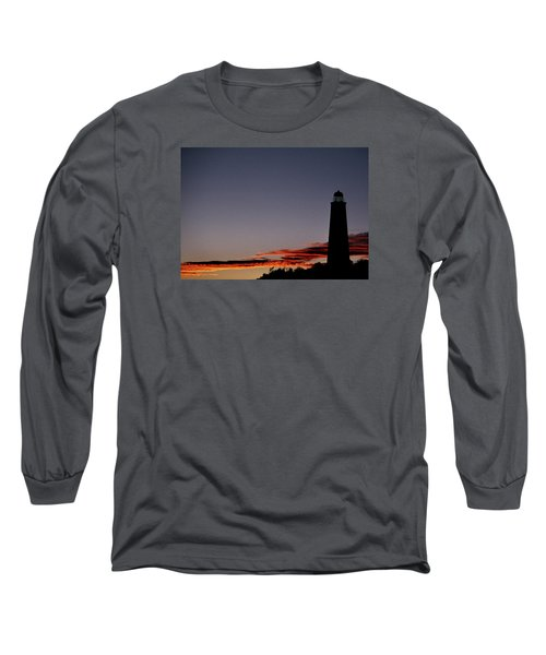 Old Cape Henry Sunrise Long Sleeve T-Shirt by Skip Willits